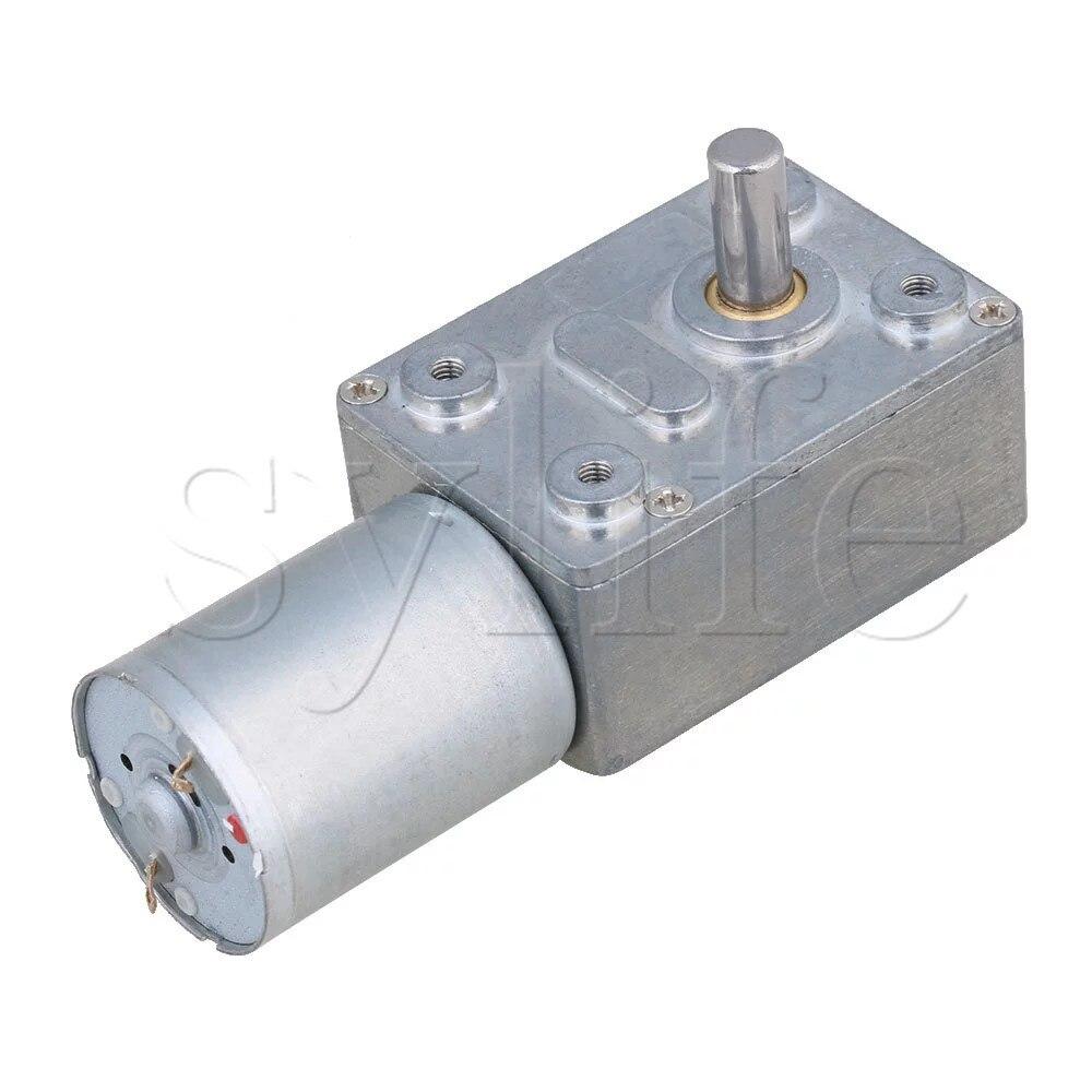 DC 12V 50RPM energía eléctrica alto Torque Turbo motor reductor engranaje de ángulo recto
