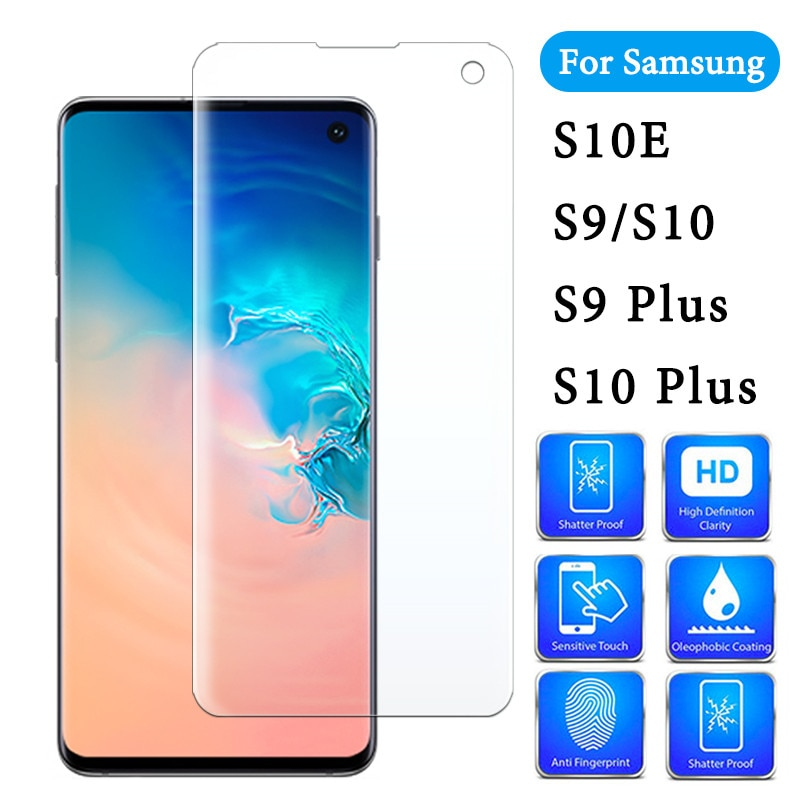 Protective Sheet On For Samsung Galaxy S9 S10 S10e Plus Samsumg S9plus S 9 10 Tpu Screen Protector Samsun Glas Film Not glass