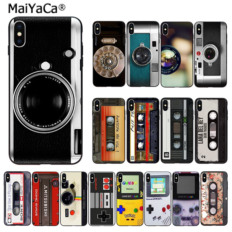 MaiYaCa Ретро микс Кассетная лента объем камеры камера отверстие телефона Крышка для iphone 11 pro 66S 7 8 8Plus 5S XS SE 2020 X XR XS MAX