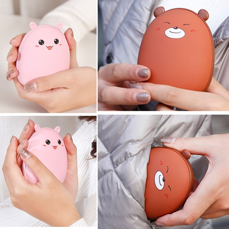 Lindo oso calentador USB para manos portátil de carga Fever Heater práctico bolsillo pequeño