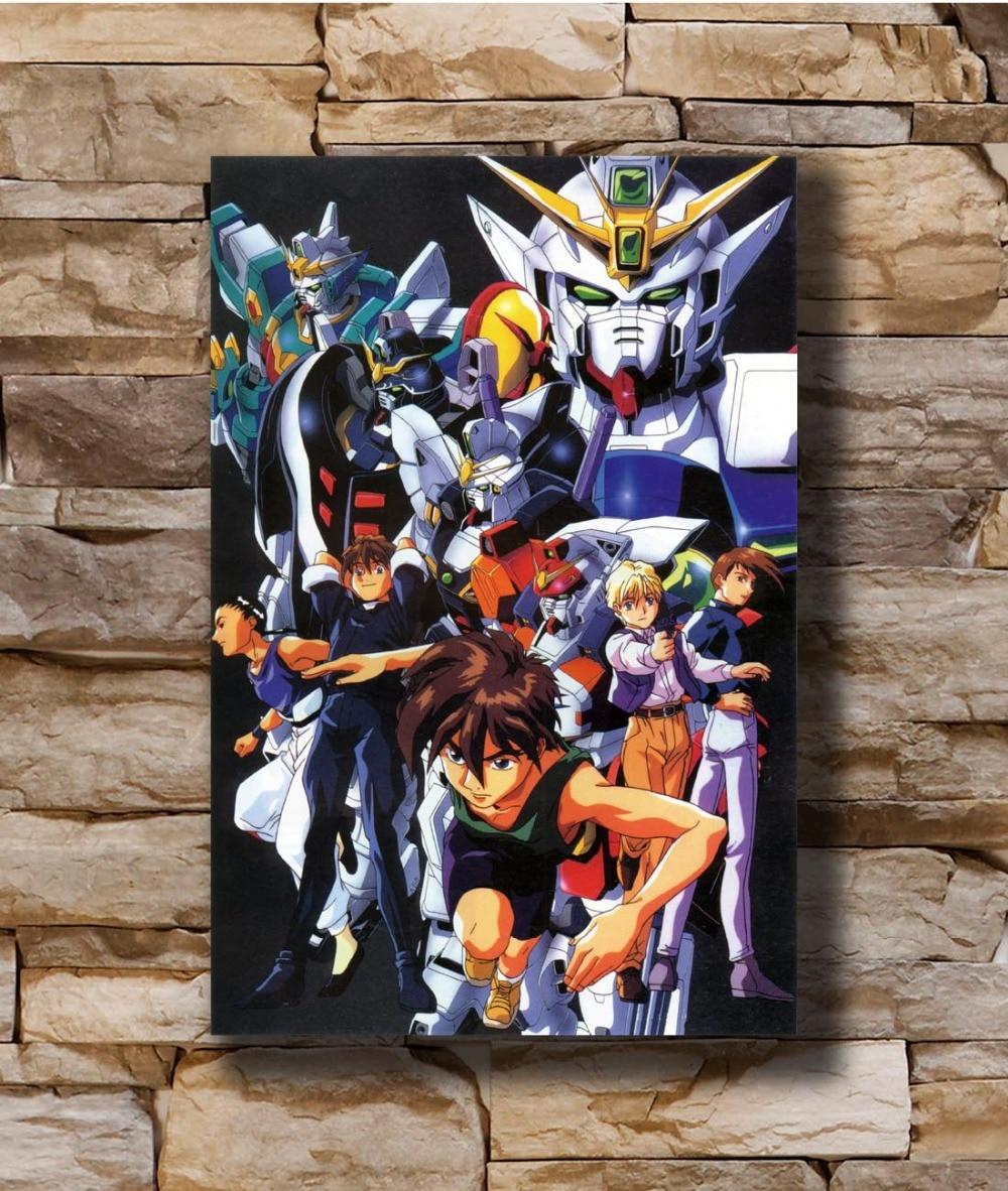 N0709 traje móvil Gundam ala dibujos animados 8x12 20x30 24x36 seda póster arte L-W lienzo impresión de decoración
