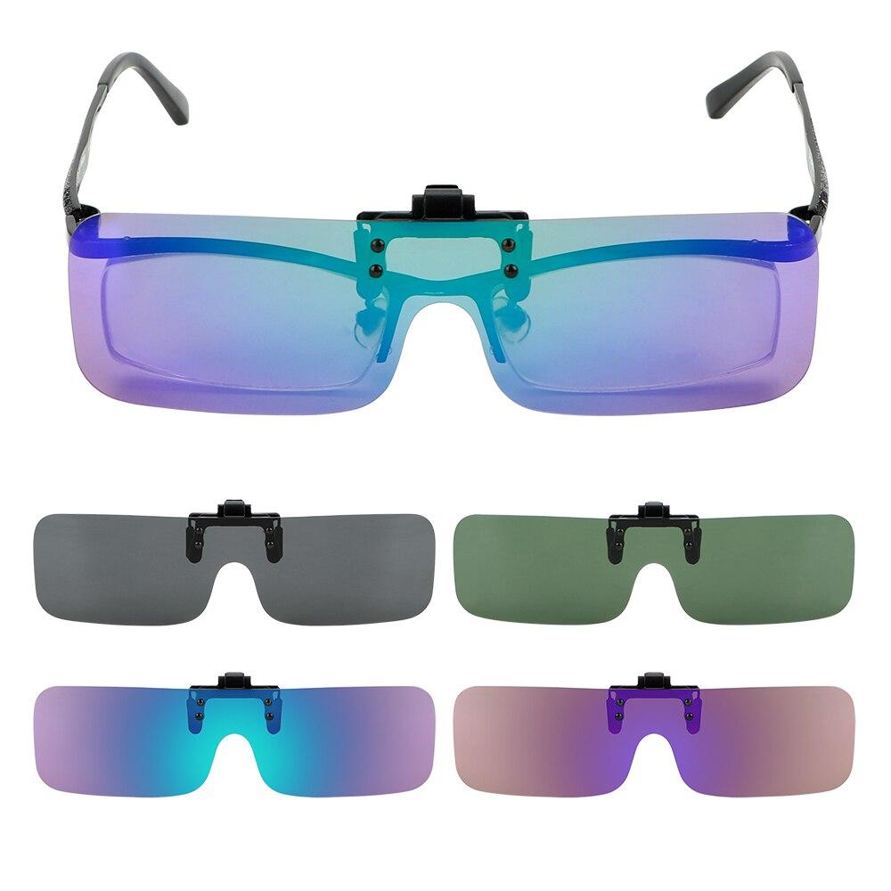 Lentes de visión nocturna para conducción LEEPEE para hombres y mujeres, gafas de sol polarizadas, gafas de sol antideslumbrantes con Clip, gafas para Conductor de coche