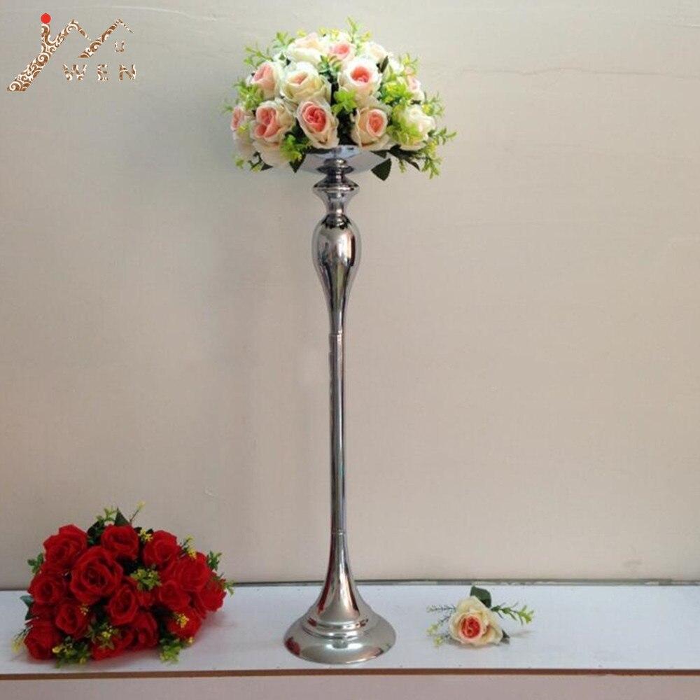 New arrival height 75 cm silver wedding centerpieces vase decoration event party road lead 1 lot = 10 pcs