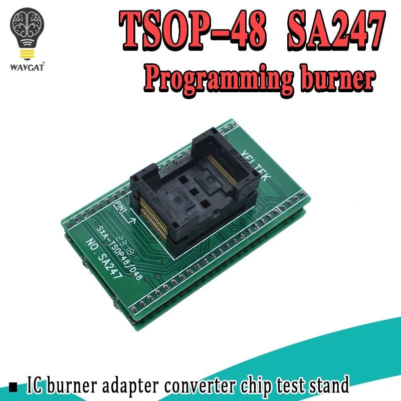 Adaptador TSOP48 a DIP48 de alta calidad, toma de prueba TSOP48 de paso de 0,5mm para RT809F RT809H y para XELTEK PROGRAMADOR USB