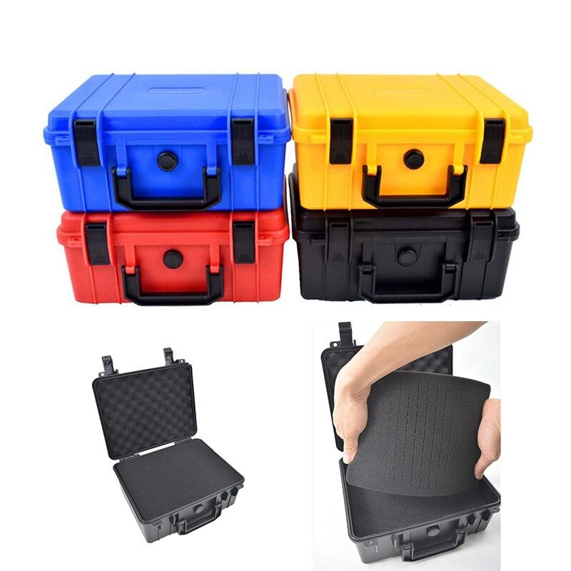 Caja de Herramientas portátil, caja de herramientas de seguridad de 279x234x126mm, caja de herramientas de plástico ABS, caja de herramientas sellada, caja a prueba de golpes gruesa con esponja