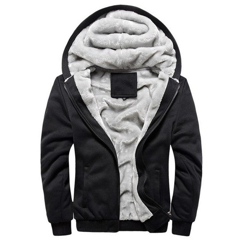 Осень-зима мужская флисовая куртка пальто, толстое, на молнии, с капюшоном теплая толстовка с капюшоном спортивный костюм спортивная верхня...