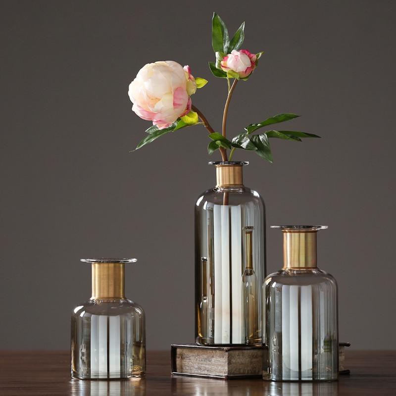 High quality glass vase terrarium glass containers flower vase Bottle crafts nordic decoration home vases wedding decoration