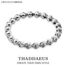 Bracelet crâne, Style Thomas, bijoux à bricoler soi-même accessoires, bon bijoux pour hommes et femmes, 2017 Ts cadeau en argent, Super offres