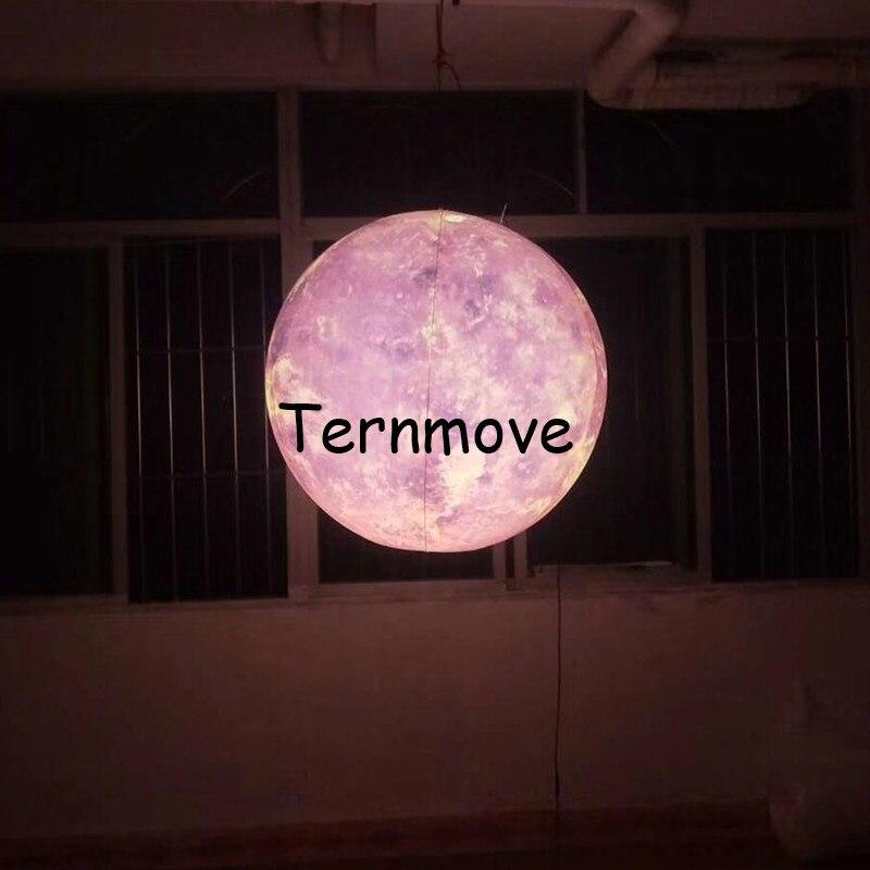 Globo de luna con luz led publicidad globo de Luna inflable gigante iluminación de Luna para eventos/espectáculo festival celebración