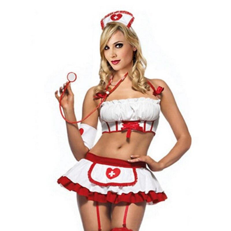 2018 femmes Sexy infirmière Costume érotique Lingerie jeu de rôle Sexy infirmière uniforme ensemble porno érotique Sexy Lingerie G-string jupe 25