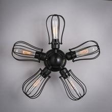 Éclairage moderne de la maison, industrie Vintage américaine, Loft Edison, ventilateur du plafond, lampe à café en fer, cuisine