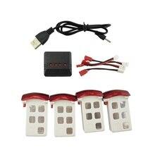Syma X5UC/X5UW RC Quadcopter Onderdelen Accessoires 3.7 V 500 mAh batterij * 4 STKS + USB Charger + Transfer Kabel * 4 STKS
