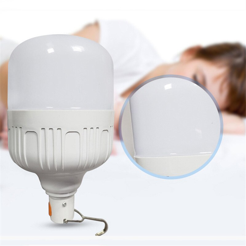 Hogar 15 W de emergencia recargable de luz LED bombilla LED ahorro de energía inteligente interruptor apagón de emergencia USB bombilla