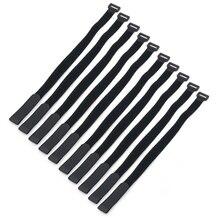 5 pièces autocollant magique sangle Nylon Lipo batterie sangle ceinture réutilisable câble cravate enveloppement RC batterie pièces noir attaches sangles bagages