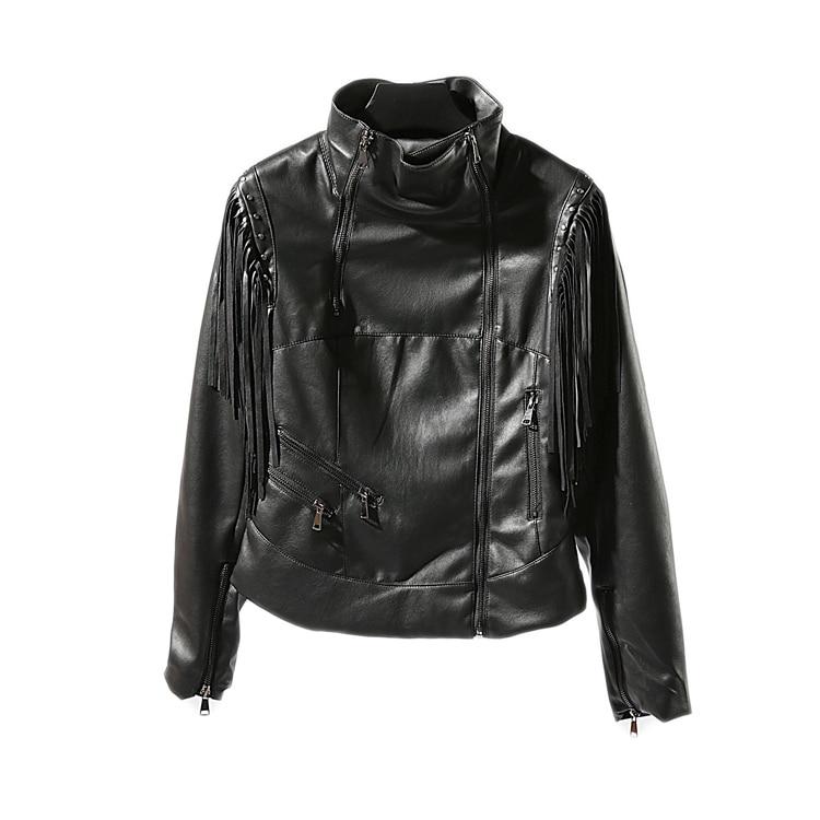 2019 Jaqueta De Couro Couro Casual Leather Jacket Women Promotion Full De Feminino Fringed Autumn New Soft Trend Pu Female enlarge
