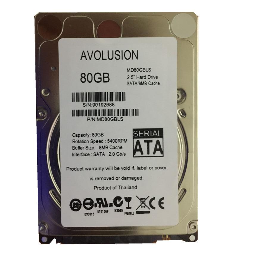 80 GB SATA 2,5 pulgadas inventario HDD 5400 Rpm 8 M disco duro interno para ordenador portátil