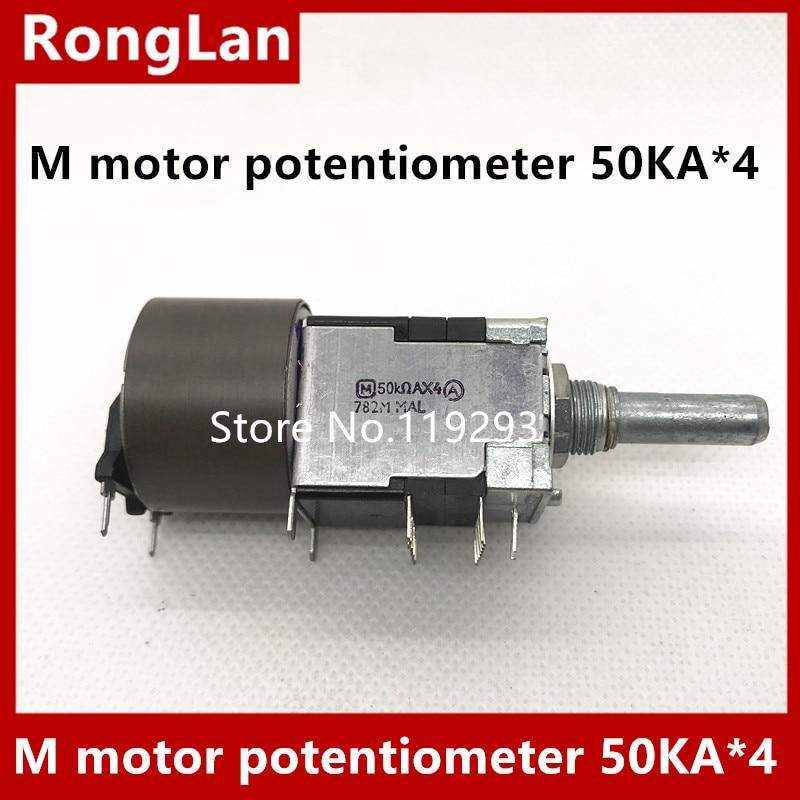 Potenciómetro de motor Original M 50KA * 4 potenciómetro de volumen A50KX4--5PCS/lote