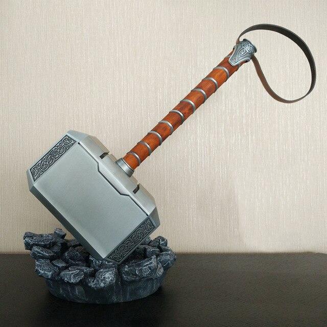 11 skala Full Metal Thor Hammer Mjolnir 1/1 Replik Thor Benutzerdefinierte Cosplay Hammer Sammlung Modell Spielzeug (nicht Enthalten Standfuß)