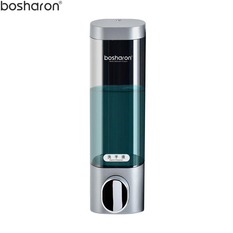 Accesorios para baño, dispensador de jabón montado en la pared, 300ml, Gel de ducha de plástico para champú, dispensadores de jabón líquido para cocina, Hotel y hogar