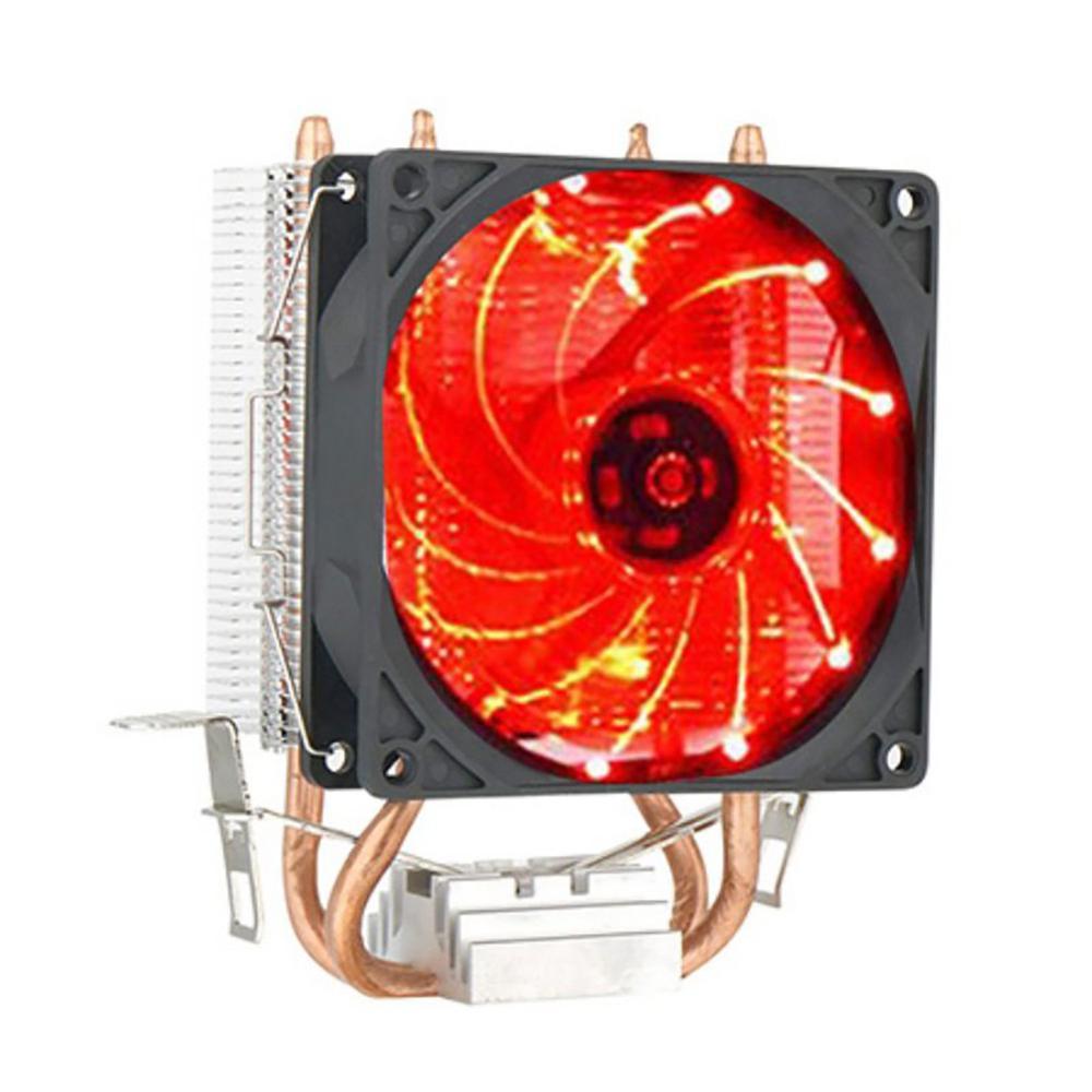 Двойной светодиодный вентилятор для процессора радиатор 9 см Высококачественный охлаждающий вентилятор для компьютера для процессора Intel ...