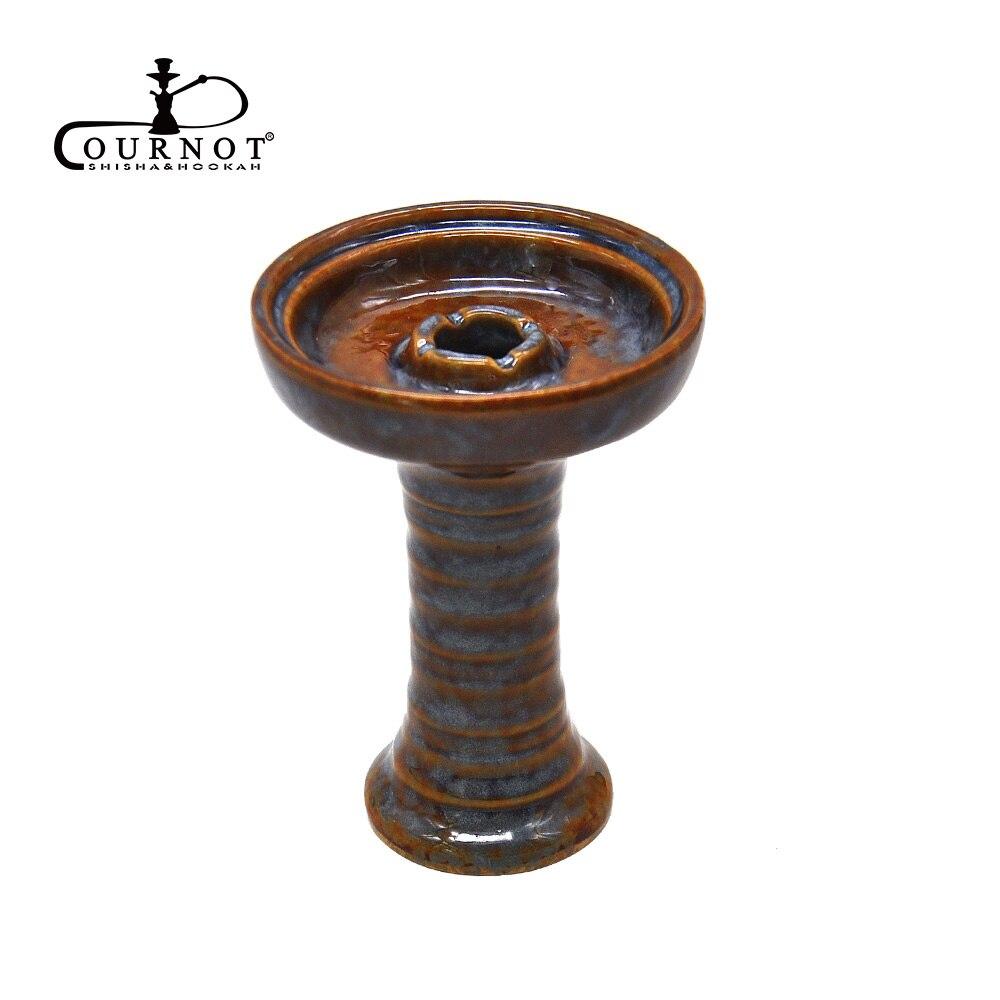 COURNOT Handgemachte Keramik Ein Loch Phunnel Shisha Schüssel Shisha Kopf Shisha Schüssel Chicha Nargile Keramik Schüssel und Holzkohle Halter