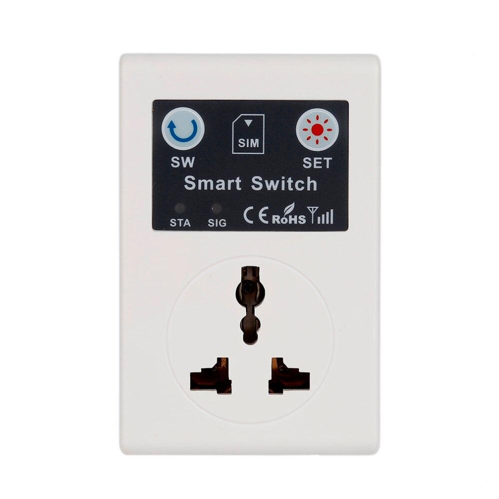 Profesional 220V teléfono RC inalámbrico remoto Control enchufe GSM interruptor inteligente enchufe para casa electrodomésticos enchufe de la UE