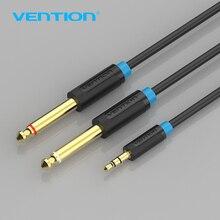 Аудиокабель Vention, двойной штекер 6,35 мм, 1/4 дюйма, моноразъем для стерео 1/8 дюйма, разъем Aux 3,5 мм, двойной адаптер 6,5 мм