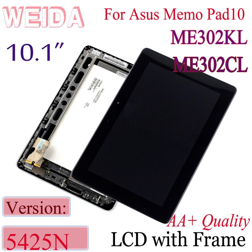 "WEIDA 10,1 ""para ASUS MeMO Pad FHD 10 ME302 5425N K00A LCD pantalla táctil digitalizador montaje ME302CL ME302KL K005"