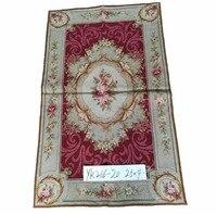 Free shipping 2.5'x4' wool handmade area rug needlepoint woolen rugs 100% cross stitched handmade New Zealand wool carpets