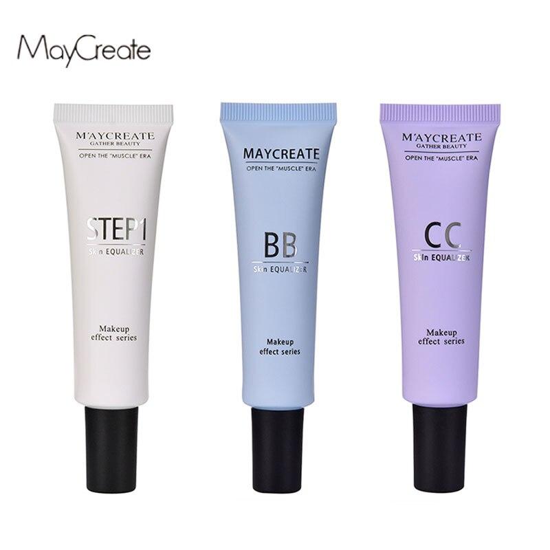 3 piezas CC crema BB crema de blanqueamiento hidratante de aceite de control impermeable cosmético corrector protector solar Primer cosméticos maquillaje