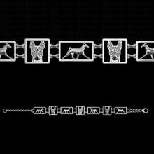 Adjustable Basenji square frames Bracelet Pet dog Jewelry free ship
