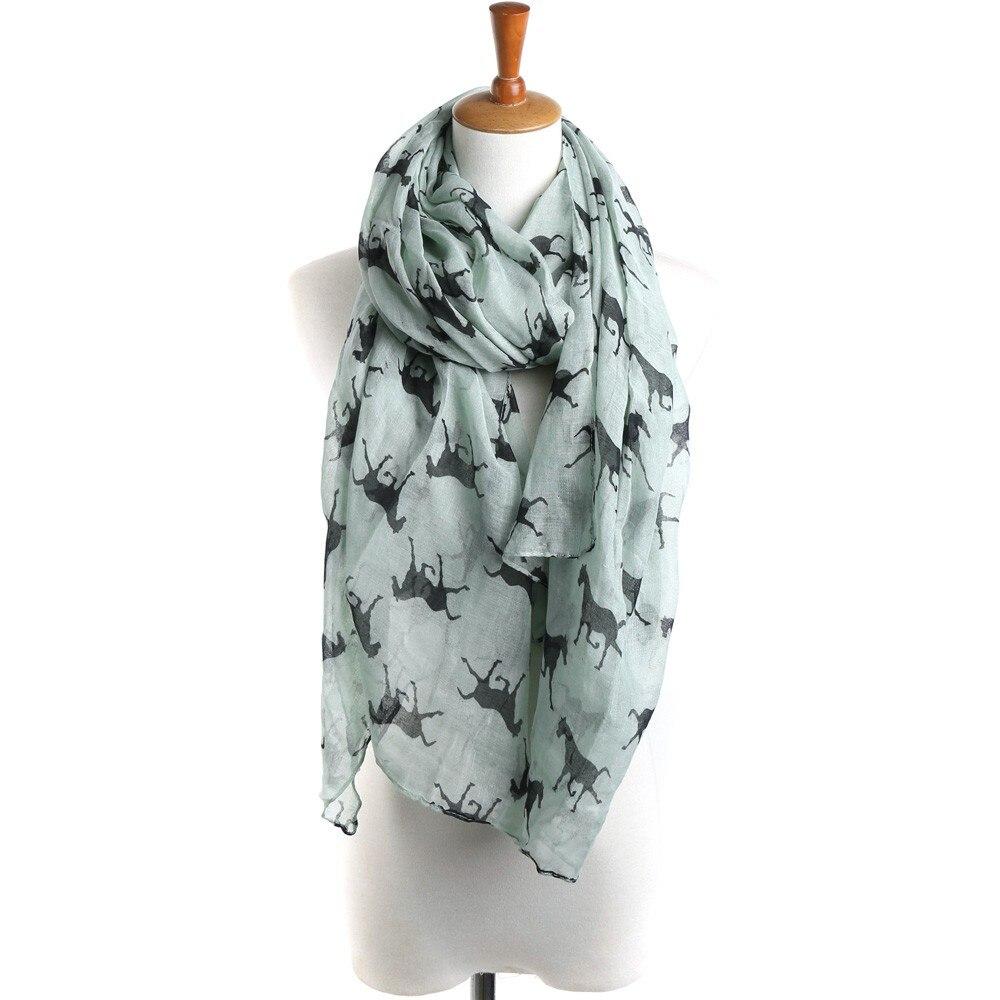 Marca de lujo bufanda del hijab mujer bufandas mujer caballo impresión patrón de encaje largo bufanda de abrigo cálida chal bufanda de gasa musulmán L2