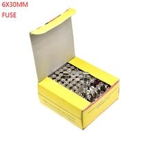 100PCS 6*30MM GLASS Quick Blow FUSE 6*30 Fast Blow insurance tube 6X30MM 6X30 250V 0.1A/0.5A/1A/2A/3A/4A/5A/6A/7A/8A/10A/15A/20A