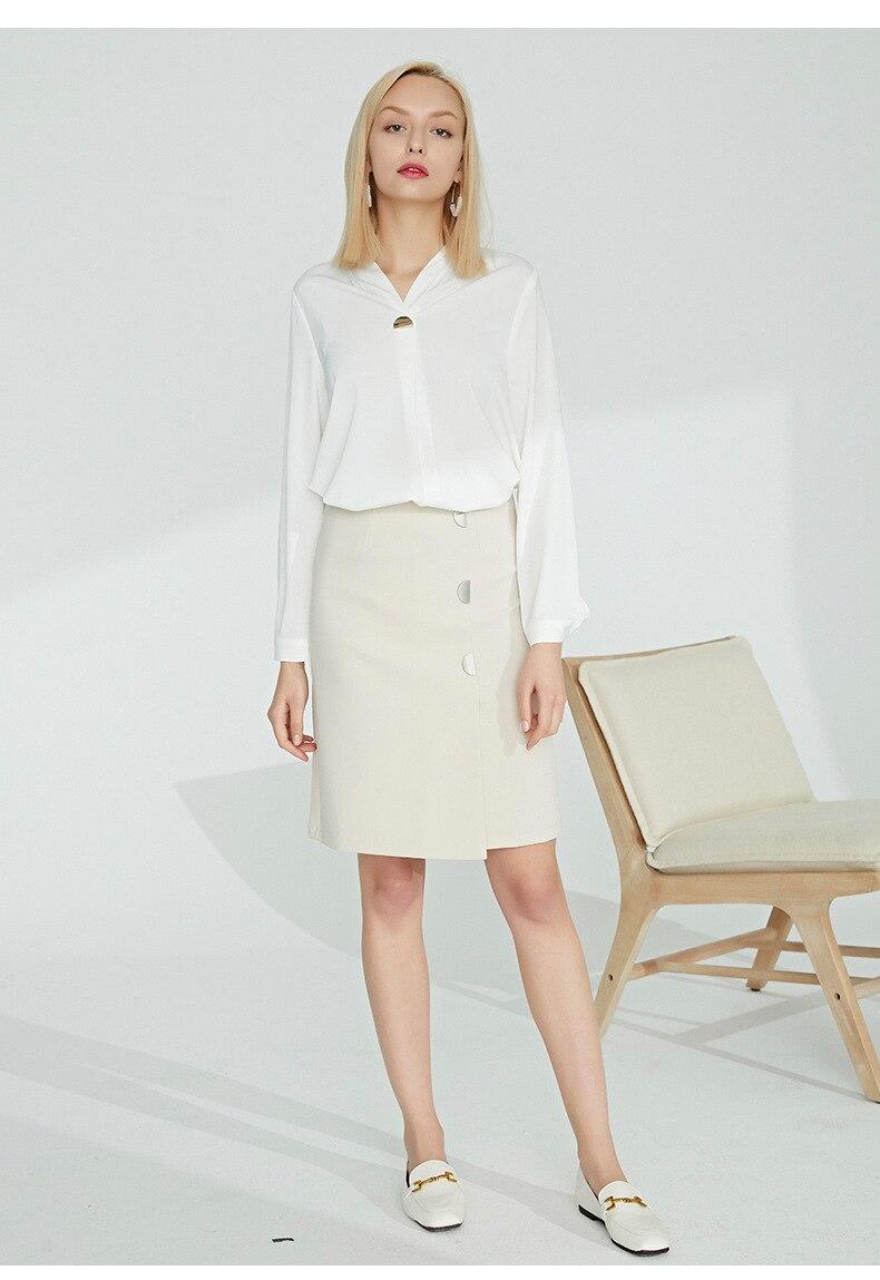 2019 spring and summer new Korean version of the skirt female fashion professional slim slimming chiffon western skirt skirt ski