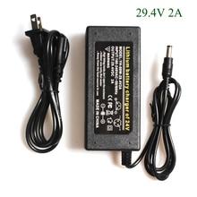 H D S N H haute qualité 29.4 V 2A vélo électrique chargeur de batterie au Lithium pour 24 V 2A batterie au Lithium Pack RCA connecteur chargeur