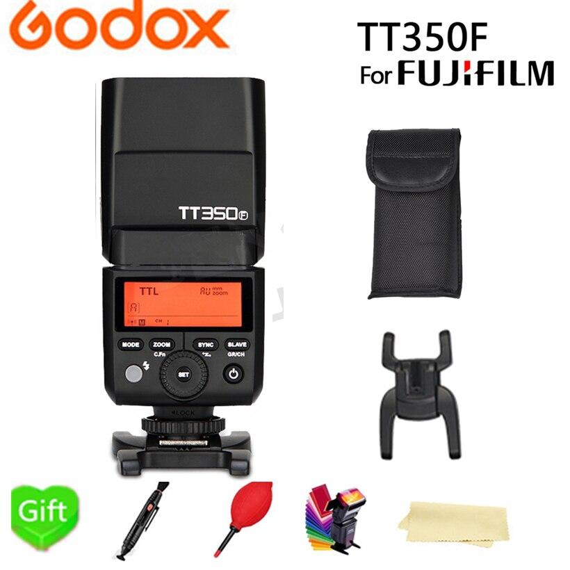 Godox TT350F Flash TTL HSS GN36 de alta velocidad 1/8000S 2,4G inalámbrico sistema TT350 Mini Speedlite para Fujifilm Fuji cámaras + regalo