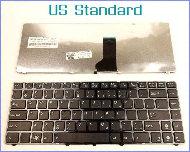 US English Version Tastatur für ASUS UL80JT N82 N82J N82JQ N82JG N82JV A42D A42F U30 UL30V Laptop MIT SCHWARZEM RAHMEN