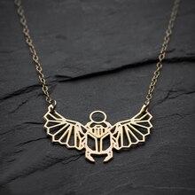 Collier scarabée NianDi collier scarabée égyptien collier insecte géométrique bijoux accessoires de fête uniques YLQ0568