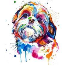 Diamond Painting Shih Tzu dog Watercolor Diamond Embroidery Cross Stitch,5D,Square,Rhinestone,Mosaic,Kit,DIY Home Decor C476