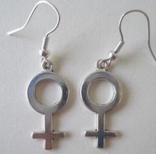 Female Symbol  Vintage Dangly Earring Feminist Symbol Charm Hook  Drape Earring DIY Fashion Women Jewelry Gifts