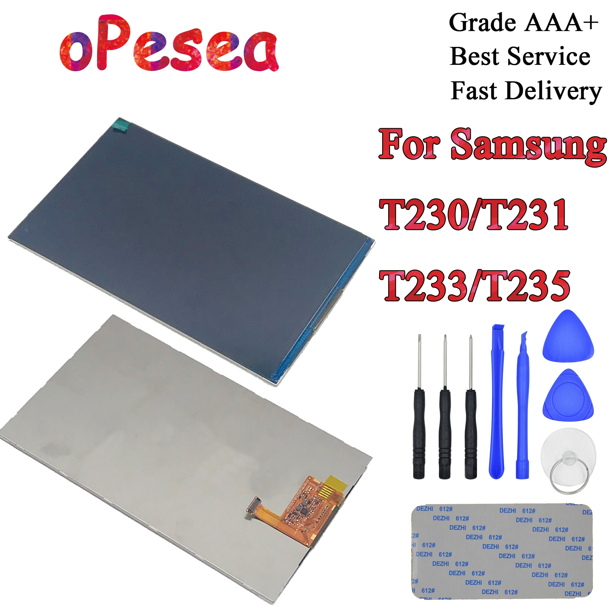 OPesea para Samsung Galaxy Tab 4 7,0 T230 T231 T233 T235 pantalla LCD Monitor piezas de repuesto