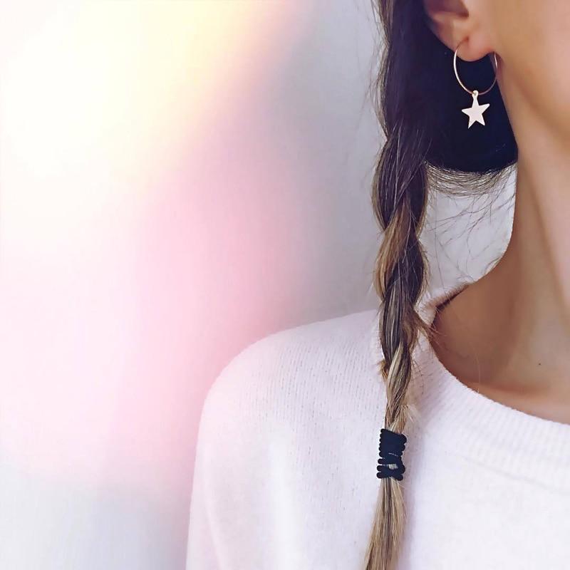 2019 nuevos pendientes a la moda Moda Popular personalidad Simple pentagrama oreja anillo Mujer Accesorios al por mayor y comercio exterior