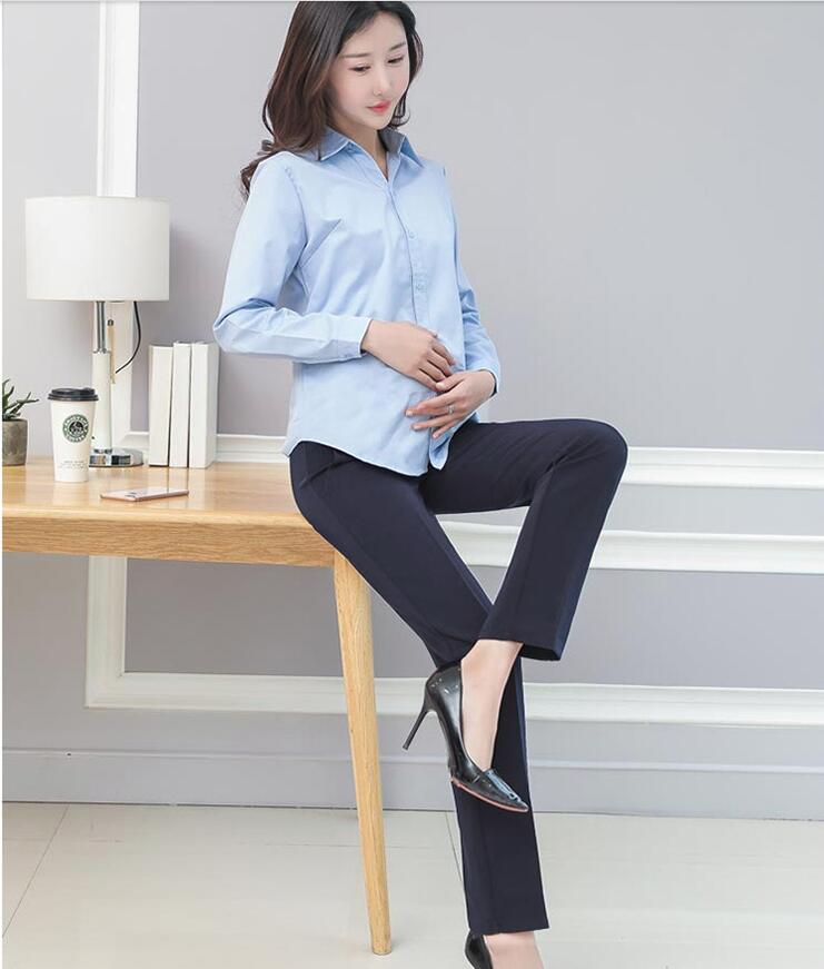 Women Maternity Pants Work Office Wear Casual Straight Leg Skinny Trousers Elastic Waist Belly Pregnancy Pants Pregnant Clothing enlarge