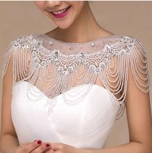 Wedding Bolero luxury Short Beading Appliques Crystals Wedding Wrap Jacket for Evening Prom Fashion Women Accessories