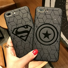 Marvel Avengers Superman Captain America Fall für iPhone XS MAX XR X 10 6s 7 8 Plus 8 Plus 7Plus Silikon Abdeckung Spiderman Ironman