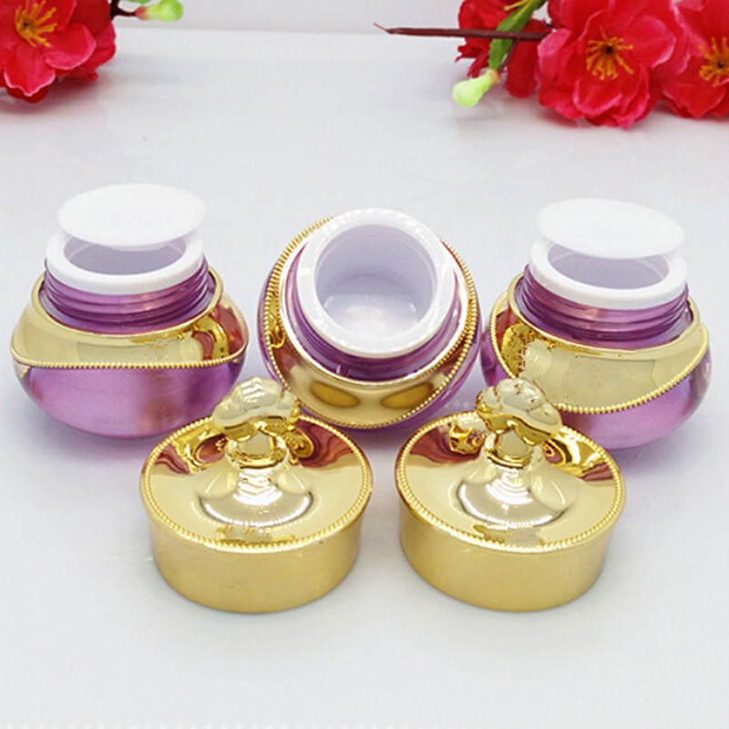 refillable bottles travel face cream lotion cosmetic container plastic empty makeup container jar pot 5g or 10g  Crown Shape Plastic Refillable Bottles Travel Face Cream Lotion Cosmetic Container Empty Pot Bottles Makeup Jar