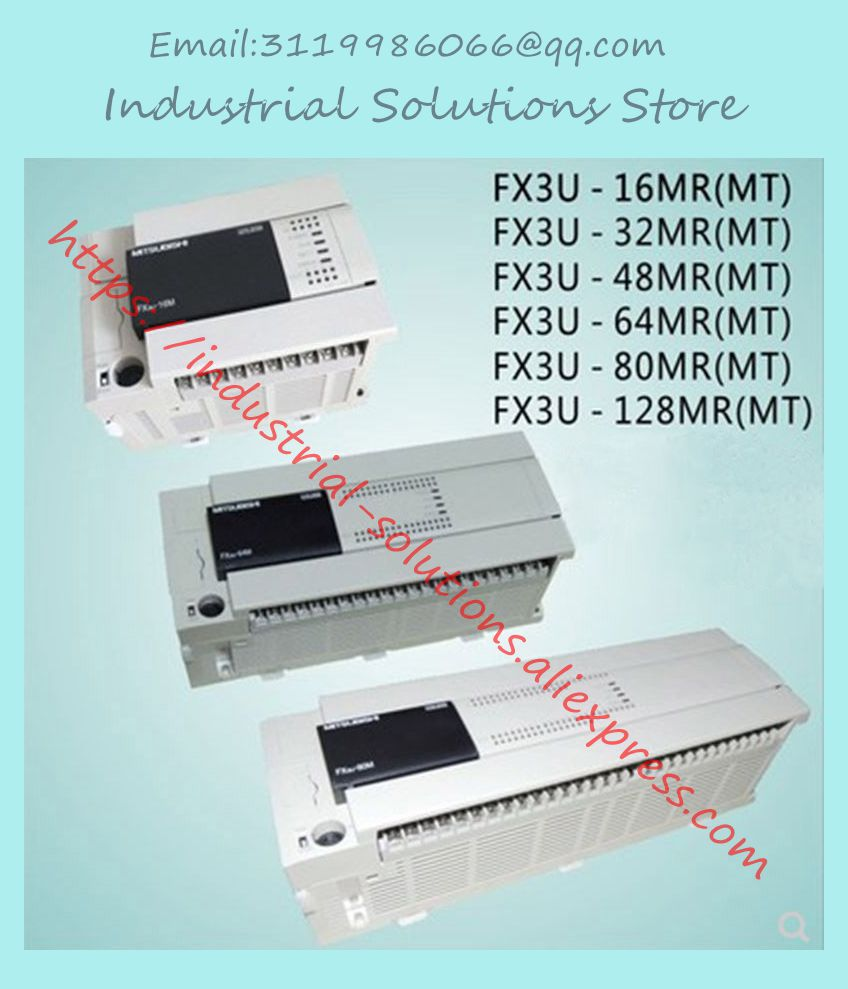 FX3U-64MR/ES-A FX3U-64MR ES-A FX3U-80MT/ES-A 16MR 32MR 80MR 64MR 48MR 128MR MT nueva caja de PLC en stock