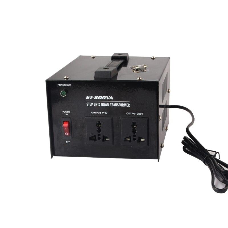 800w uso en el hogar 220 v-110 v, 110 v-220 v transformador de aumento y bajada electrodomésticos