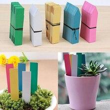 Étiquettes en plastique réutilisables pour plantes PVC   100 pièces, étiquettes suspendues arbre, Fruits, semis, Pot de fleurs, étiquette en plastique pour signe, outils de Classification