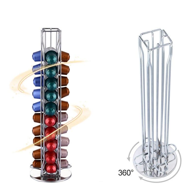 2019 dispensador giratorio de cápsulas de café soporte de Torre soporte de cápsulas de café para 40 Uds cápsulas de café presso envío gratis
